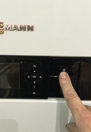 Turn off the main switch to the boiler