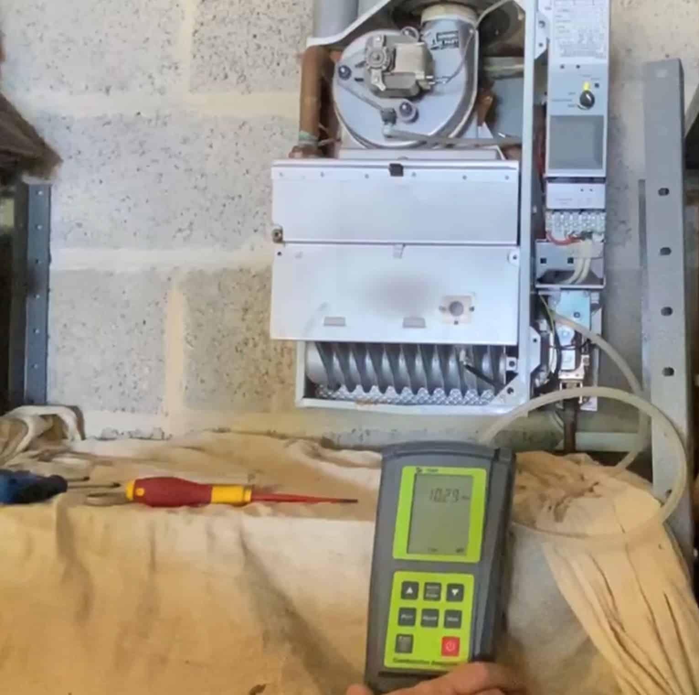 Gas pressure check